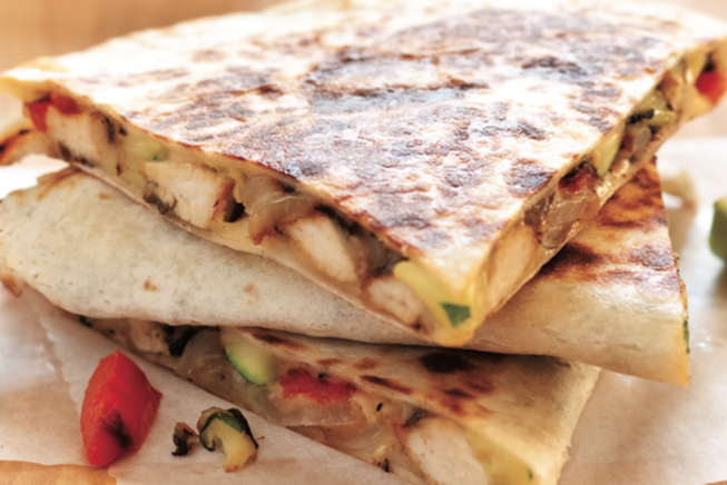 Grilled Chicken And Vegetable Quesadillas The Feed