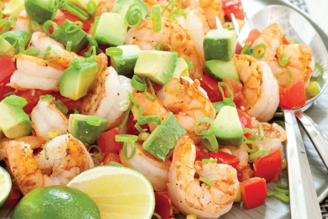 Pan-Seared Shrimp with Tomato and Avocado | The Feed
