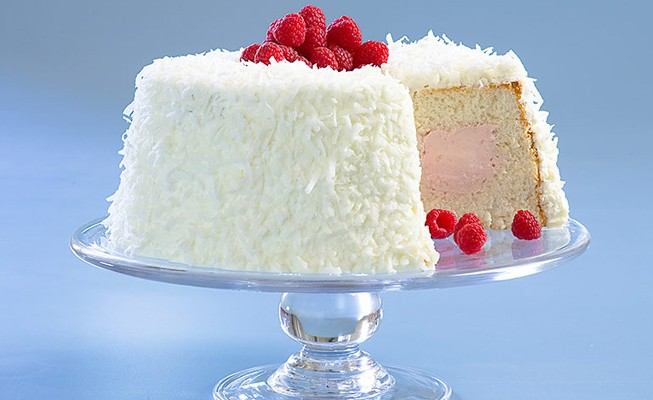 Raspberry-Coconut Cloud Cake | The Feed