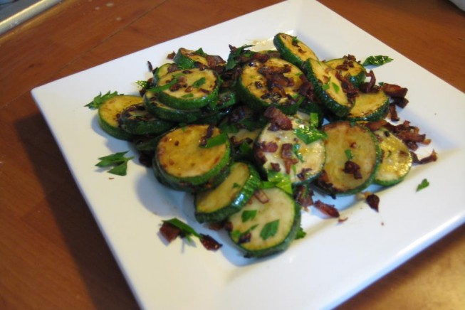 Sauteed Zucchini with Pancetta and Parsley