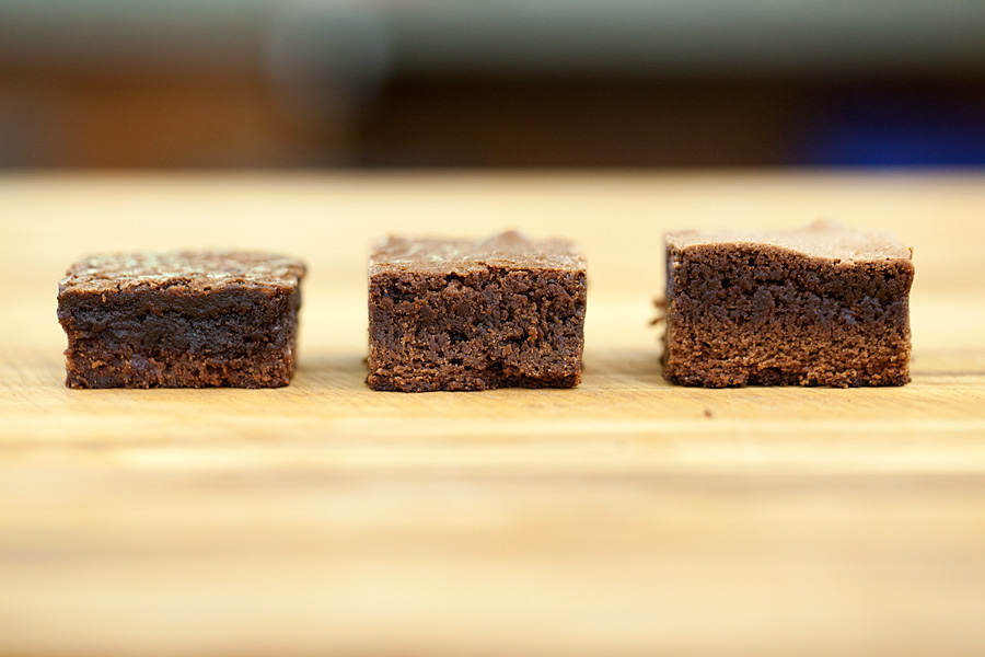 Row of brownies
