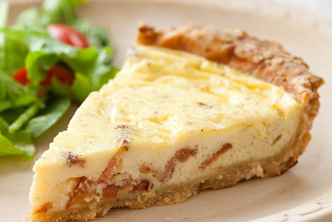 Quiche Lorraine (Minus 170 Calories and 25 Grams of Fat) | The Feed